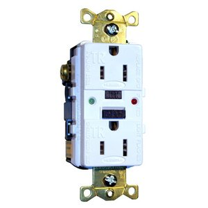 Hubbell-Wiring Kellems GFTR15LA Tamper/Weather Resistant GFCI Receptacle, 15A, 125V, Light Almond *** Discontinued ***