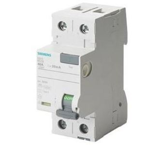 Siemens 5SV3311-6KK13 Breaker, DIN Rail Mount, 2P, 16A, 30mA, 24-125VAC, Residual Current *** Discontinued ***