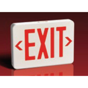 Lightalarms QLXN500RN Exit Sign, Self-Powered, LED, White, Red Letters, 120/277V *** Discontinued ***