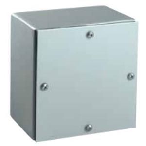"Hubbell-Wiegmann WA080806GSC Enclosure, NEMA 3/4, Screw Cover, Gasketed, 8"" x 8"" x 6"", Steel"