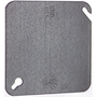 "Steel City 52-C-1 4"" Square Cover, Flat, Blank"