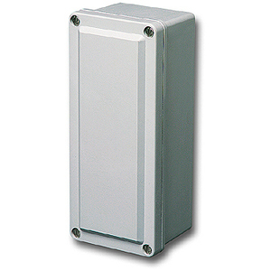 "Stahlin CF844 Enclosure, NEMA 4X, 8"" x 3"" x 4"", Screw Cover, Gray, Fiberglass"