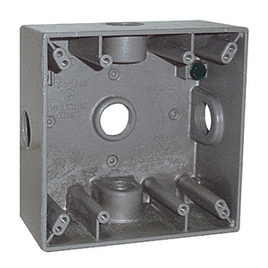"Appleton WSX210 Weatherproof Outlet Box, 2-Gang, Depth: 2.2"", Die Cast"