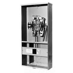 Milbank U3741-XL-100-BL Meter Mains, 4 Jaw, 100A, Main Breaker, 120/240VAC, Lever Bypass