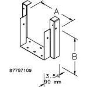 Hoffman F88T3R66R Wireway, 3r, Straight Section, Male
