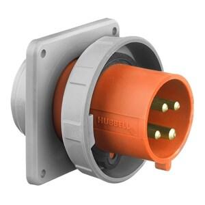Hubbell-Wiring Kellems HBL430B12W PS,IEC, INLET, 3P4W, 30A 125/250V,4X/69K