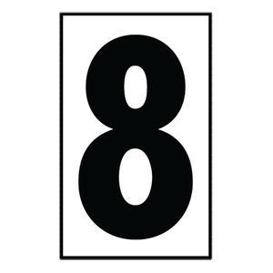 """Sea Gull 90618-68 Address Light Number Tile, #8, White Plastic, 5"""""""