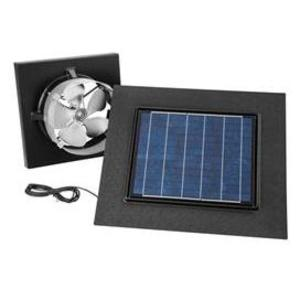 Broan 345GOBK Solar PAV, gable mount, with remote mount black solar panel