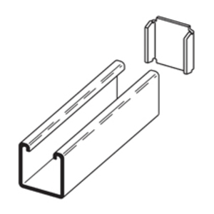 Eaton B-Line B205AL CHANNEL END CAP, TYPE X, USE WITH B22 CHANNEL, ALUMINUM
