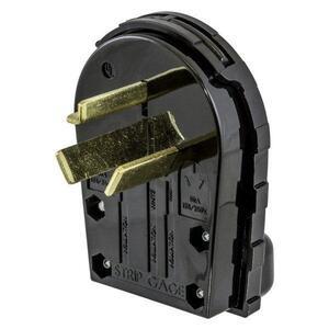 Hubbell-Wiring Kellems RR335P PLUG, SB, 30A 125/250V, 3P3W, ANG, BK