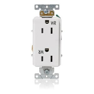 Leviton WDR15-W Decora Plus Duplex Receptacle Outlet - White