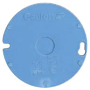 "Carlon E460R-CAR Round Box Cover, Diameter: 4"", Blue, Non-Metallic"