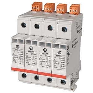 Allen-Bradley 4983-DS120-401 Surge Protection Device, 120VAC, 1P, Din Rail Mount, 700V VPR