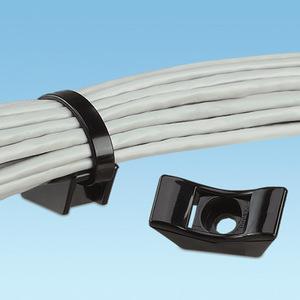 """Panduit TMEH-S8-C0 HD Cable Tie Mount, #8 (M4), 0.72"""", WR, Black"""