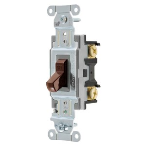 Hubbell-Wiring Kellems CSB220 SWITCH, COMM, DP, 20A 120/277V, B+S, BR