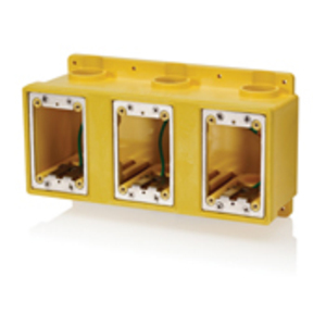 FDBX3Y YEL PVC THREE GANG FD BOX
