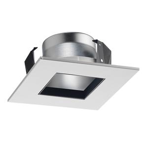 Juno Lighting 17SQ-HZWH 17SQ square downlight trim for line voltage housings haze reflector white trim