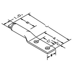 3M 40178 Two-Hole Lug, Aluminum