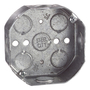 "Steel City 54151-1/2 4"" Octagon Box, 1-1/2"" Deep, 1/2"" KOs, Drawn, Steel"