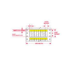 """DAT-39-292-YL 1.000 INX3.750""""  (25.40 MM"""