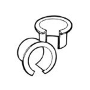 "Thomas & Betts IT-100-SC Anti-Short Bushing, 5/16"", Size 0, Non-Metallic"