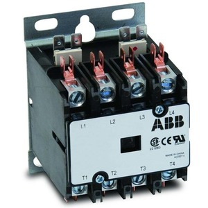 ABB DP40C4P-1 40A, 4P, Definite Purpose Contactor