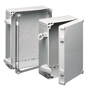 nVent Hoffman Q402018PCIQRR Junction Box, NEMA 4x, Clear Cover, 400 x 200 x 173mm