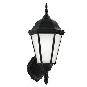 Sea Gull 89941EN-12 1-Light Outdoor Wall Lantern, LED, 10W, 120V, Black Finish