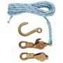 1802-30 BLOCK & TACKLE W/SNAP HOOKS