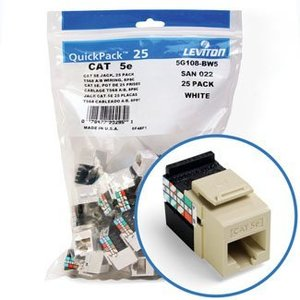 Leviton 5G108-BI5 Jack Cat 5e Iv Bulk 25