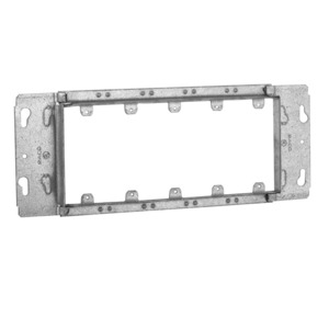 """Hubbell-Raco 824 Gang Box Device Cover, 5-Gang, 3/4"""" Raised"""