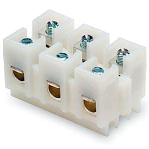 Eaton/Bussmann Series NC3-WH TERM BLOCK WHITE