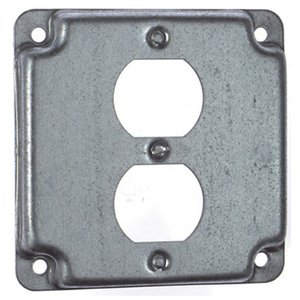 "Steel City RS-12 4"" Square Exposed Work Cover, (1) Duplex Receptacle"