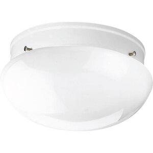 Progress Lighting P3410-30 Mushroom Fixture, 2-Light, 60W, White