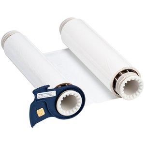 """Brady 13512 Series R10000 Printer Ribbon, White, 8.8"""" Wide, 200' Long"""