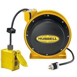 Hubbell-Wiring Kellems HBL45123R220 CORD REEL W/(2)  DUPLEX, 45' 12/3