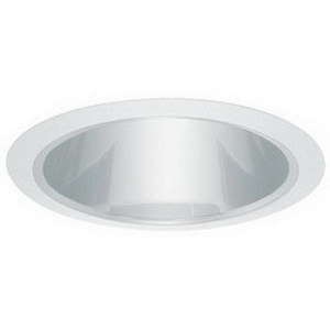 "Elite Lighting B617W-WH 6"" Shallow Cone Reflector"