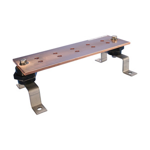 "nVent Erico EGBA14420CC Bus Bar, Copper, 20"" Long, 1/4"" Thick, 4"" Wide"