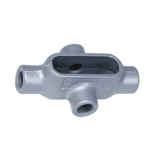"Appleton X57 Conduit Body, Type: X, Size: 1-1/2"", Form 7, Grayloy Iron"