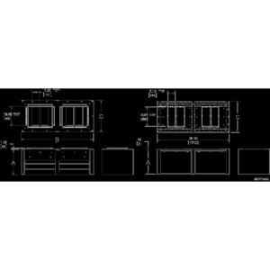 Hoffman WFHD3VB6830 Base for Modular Enclosures