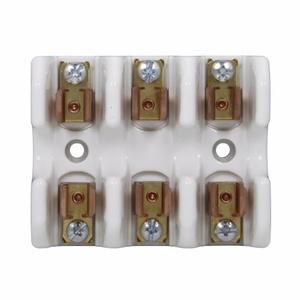 "Eaton/Bussmann Series 1976-3 Fuse Block, 9/16"" x 2"" Semiconductor Fuses, 3P, 0-30A 700V, Ceramic"