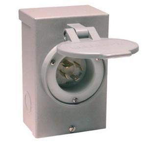 Reliance Controls PB20 Power Inlet, 20A, 120/240VAC, NEMA L14-20, Recessed Inlet, NEMA 3R