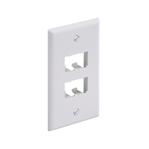 Panduit CFP4EI Wallplate, Classic, 1-Gang, 4-Port, Box Mount, Mini-Com, Ivory