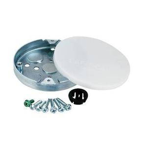 "Westinghouse Lighting 0103611 4"" Ceiling Fan Support Box, 1/2"" Deep, 1/2"" KOs, Metallic"