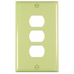 Pass & Seymour K3-I Plate Plst Des Horz 3dev 1g W/line