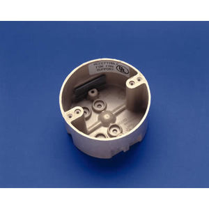 "Allied Moulded 9350-KFR Ceiling/Fixture Box, Diameter: 4"", Depth: 2-7/16"", Non-Metallic"