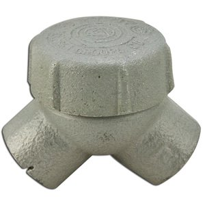 """Appleton ELBY50A Pulling Elbow, Capped, 90°, 1/2"""", Explosionproof, Aluminum"""