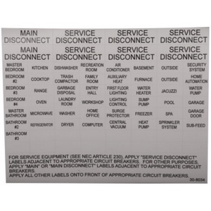 Eaton CHBL Circuit Breaker Label Sheet