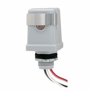 Intermatic K4121C Photocell, Stem Mounting, Thermal, 15A, 120V