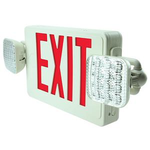 Barron Lighting Group VLED-U-WH-EL90-G2 LED Exit Combo, Universal, 120/277V, White Housing